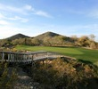 The 12th at Arizona Grand Golf Resort is a short par 3 that is guarded by desert wash.