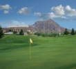 Arizona State's Sun Devil Stadium has a dramatic backdrop on the ASU Karsten Golf Course.