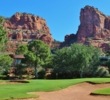 The sixth hole is the no. 1 handicap at Oakcreek Country Club in Sedona, Arizona.