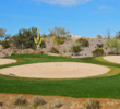 Bunkers guard the green on the par-5 seventh at Wickenburg Ranch Golf & Social Club northwest of Phoenix.