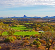 A challenging tee shot is one of the reasons the par-5 14th is the no. 2 handicap hole at Wickenburg Ranch Golf & Social Club.