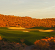 The fifth and final par 3 at Wickenburg Ranch Golf & Social Club has a potentially difficult green.
