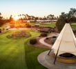 Fittingly, The Wigwam resort has a tee-pee in the midst of its practice area.
