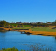 Off the tee, you have to cross a lake from the two back tees on the par-4 10th at the SunRidge Canyon golf course in Fountain Hills, Ariz.