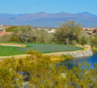 Water comes into play on the par-3 14th at the SunRidge Canyon golf course in Fountain Hills, Arizona.