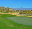 The dogleg left, par-4 15th, at 457 yards from the tips, is the no. 1 handicap hole at SunRidge Canyon.