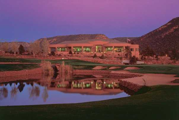 A View Of Fairway And Green 8 With Clubhouse In Background At Sedona Golf Resort