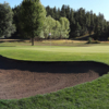 A view of a well protected green at Pinewood Country Club.