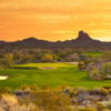 Sunset over #14 on Wickenburg Ranch Golf Course