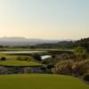 View from the yellow 18th tee at Las Sendas Golf Club