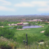 A view of the signature hole #18 at Arizona National Golf Club
