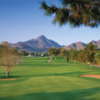 Looking back from the finishig hole at Arizona Biltmore Country Club - Links Course