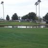 A view of the 18th hole at Villa de Paz Golf Course