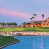 A view of the clubhouse at Robson Ranch Golf Club.