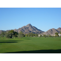 Arizona Biltmore Golf Club's Adobe Course throws green and mountain looks at golfers.
