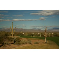 The fourth hole on the Saguaro Course at We-Ko-Pa Golf Club is a par 5 that plays over 600 yards.