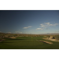The eight hole on the Saguaro Course at We-Ko-Pa Golf Club is an uphill par 5.