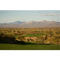 The 10th hole on the Saguaro Course at We-Ko-Pa Golf Club is a par 4 that is just 337 yards downhill.