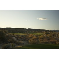 The 14th hole on the Saguaro Course at We-Ko-Pa Golf Club is a par 5 with a split fairway.