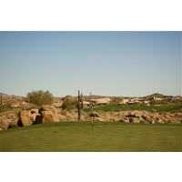 The second hole on the Pinnacle Course at Troon North Golf Club is a par 4 named Bobcat Hill.