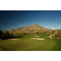 The North Course at Boulders Resort's eighth hole is a par 4 that features a boulder in the middle of the fairway.