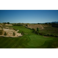 Quarry Pines Golf Club's 10th hole is the first to play inside the quarry.