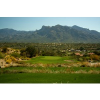 The third hole on Omni Tucson National Golf Resort's Sonoran course is a downhill, 183-yard par 3.