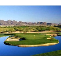 The par-5 15th hole at the TPC Scottsdale Stadium Course.