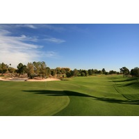 The first par 5 at the Raven Golf Club - Phoenix is the 596-yard fourth, which plays to an elevated green.
