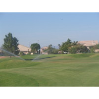 Kokopelli Golf Club has houses in the background on several holes