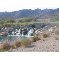 Verrado Golf Club's showy waterfall is visible on both the first and 18th holes.