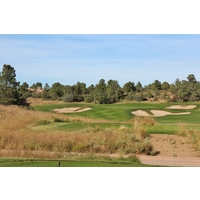 The par-3 13th hole introduces a beautiful stretch of holes at Talking Rock Golf Club in Prescott, Arizona.