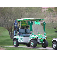 Coyote Lakes Golf Club - Phoenix Scottsdale - Shamrock golf cart, St. Patrick's Day week