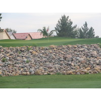 Coyote Lakes Golf Club - Phoenix Scottsdale - Hole No. 6 stone wall green