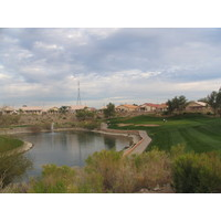 Coyote Lakes Golf Club - Phoenix Scottsdale - Hole No. 14 approach with pond to the left