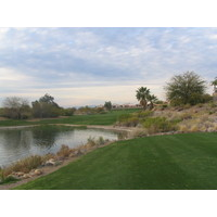 Coyote Lakes Golf Club - Phoenix Scottsdale - Hole No. 15 tee view with water