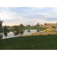 Coyote Lakes Golf Club - Phoenix Scottsdale - Hole No. 16, par 3 water clear