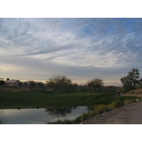 Coyote Lakes Golf Club - Phoenix Scottsdale - Hole No. 17 green at dusk