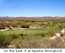 On the back 9 at Apache Stronghold