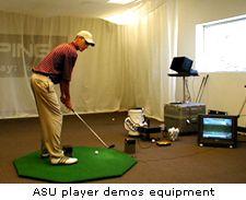 ASU Player demos equipment