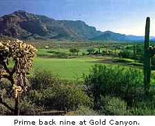 Prime back nine at Gold Canyon