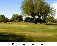 Putting green at Tubac